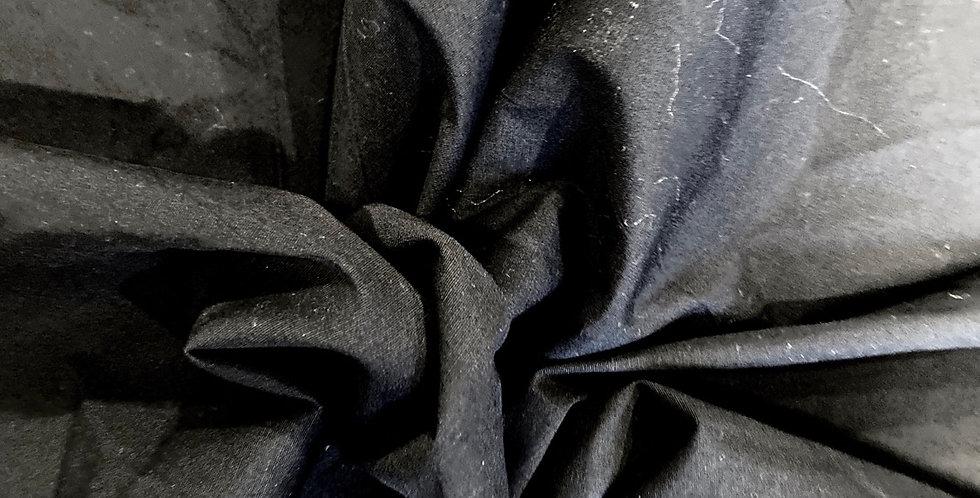 Black stretch cotton remnant