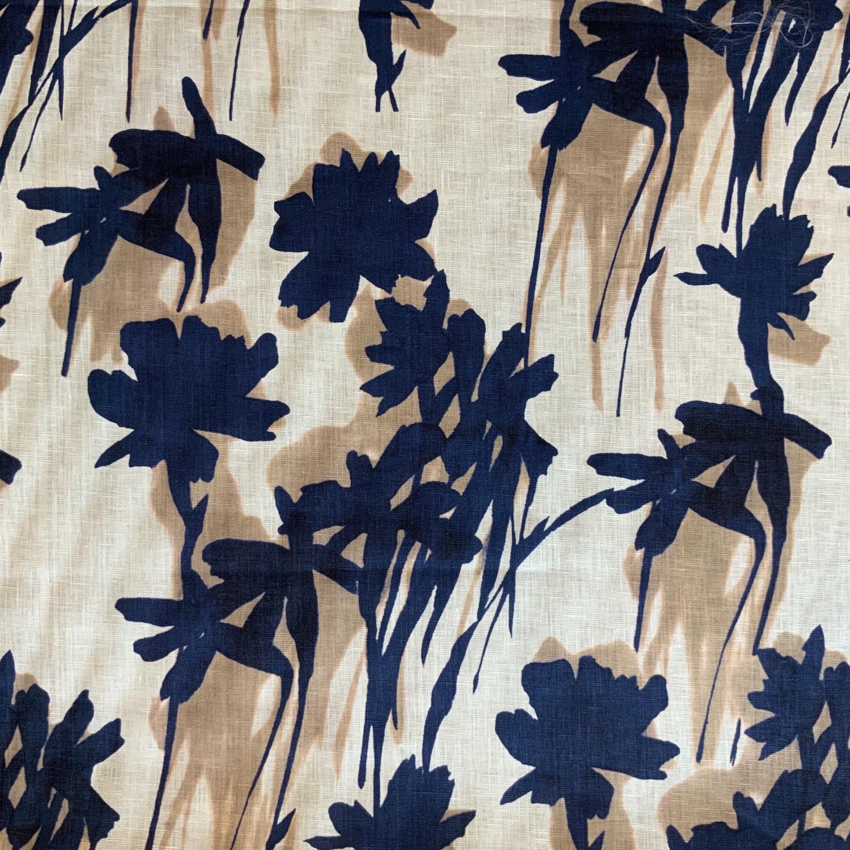 Navy Blooms Linen...