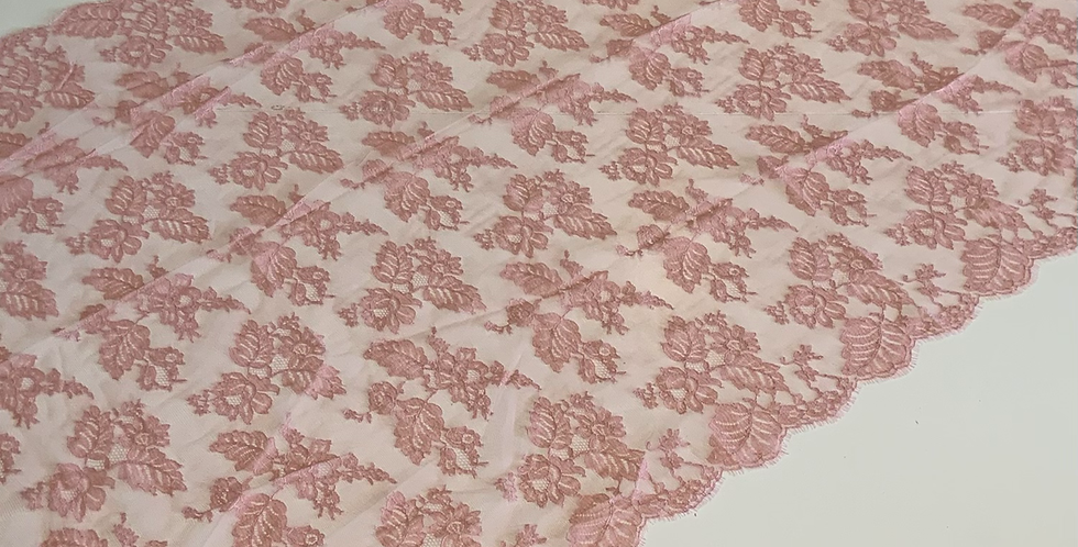 Rose French Chantilly Lace Piece #4022