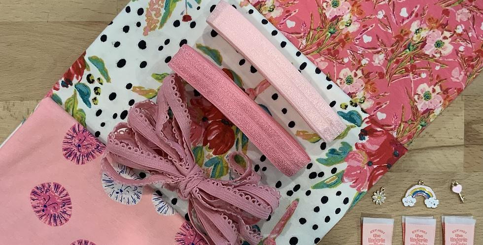 Pink Lions Art Gallery Fabrics Knickers Kit…