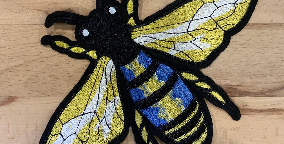 Medium  Embroidered  Bee Motif