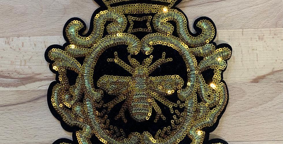 Golden Sequin Bee Sew On Motif…