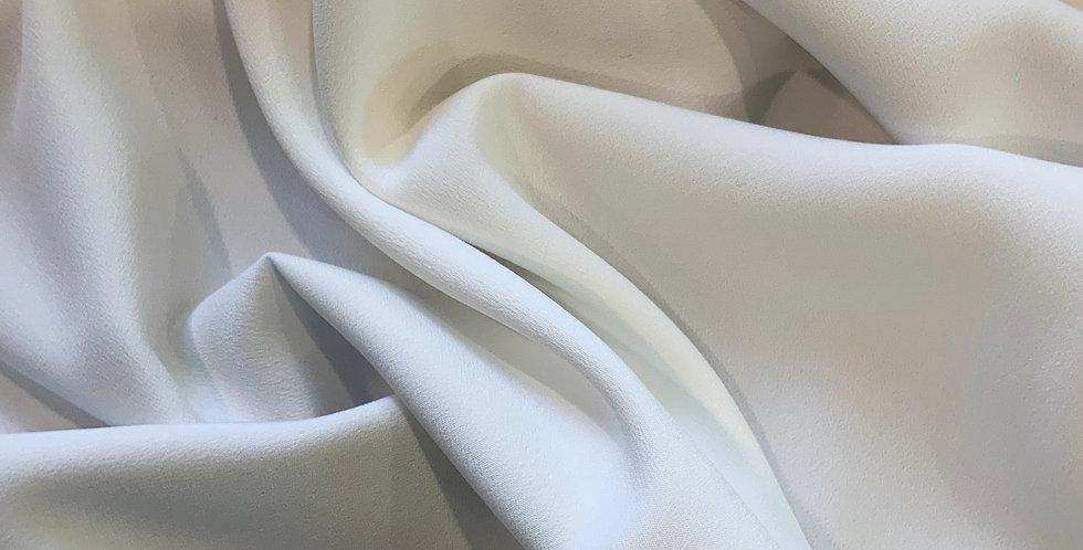 Natural White Stretch crepe de chine....