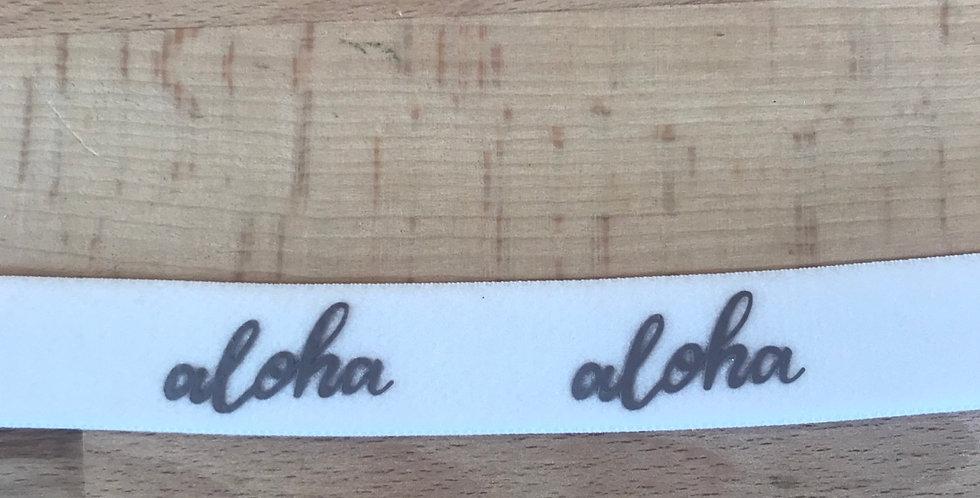 Aloha 20mm plush back elastic (taupe)