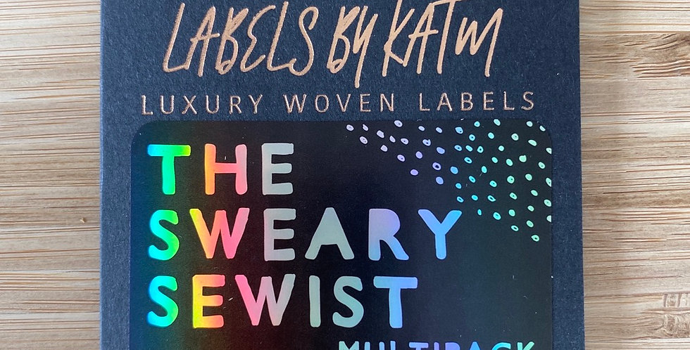 KATM the sweary sewist cloth labels