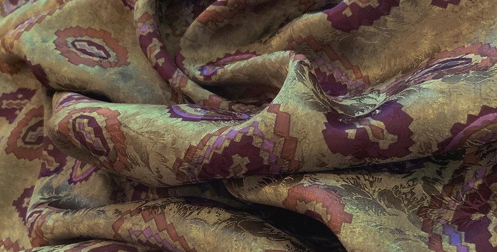 Bohemian Aztec Silk Jacquard...