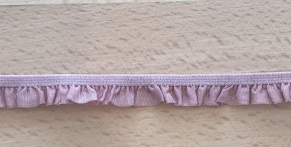 Dusty Pink Hand Dyed Ruffle Elastic...