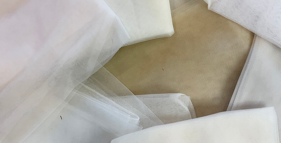 5mtrs of Assorted Bridal Tulle #1