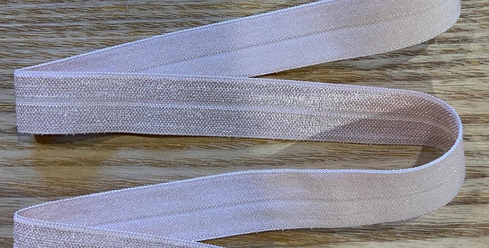 Pale Mocha 15mm Satin Finish Foldover Elastic...