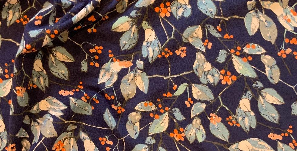Art Gallery fabrics Serein Branchlet Oeko-Tex Cotton Spandex Knit...