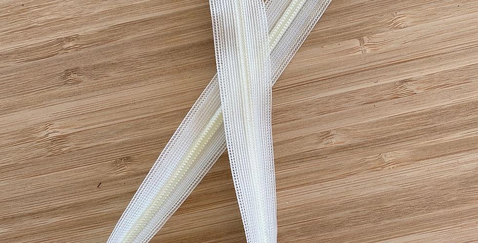 45cm cream invisible zip