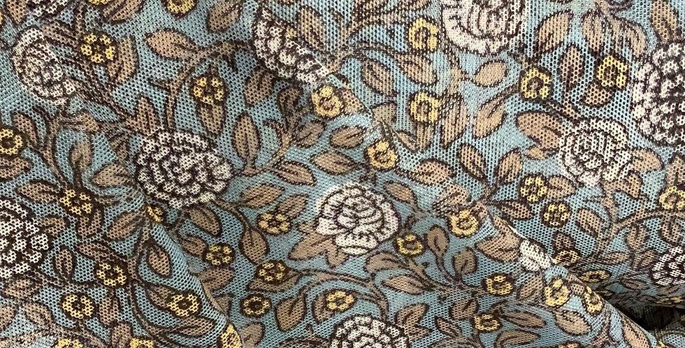 Blue Carnation Stretch Mesh....