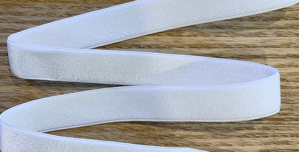 White Plush Back Satin Strapping Elastic...