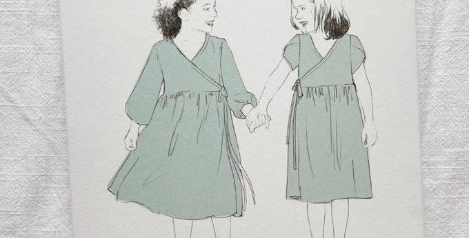 by hand london little hannah dress printed pattern