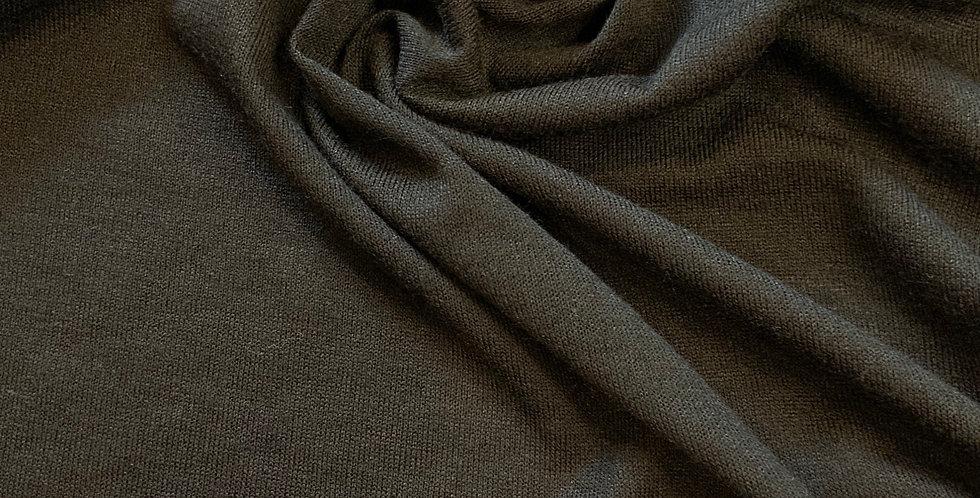 Black Lightweight Polyester Knit Remnant