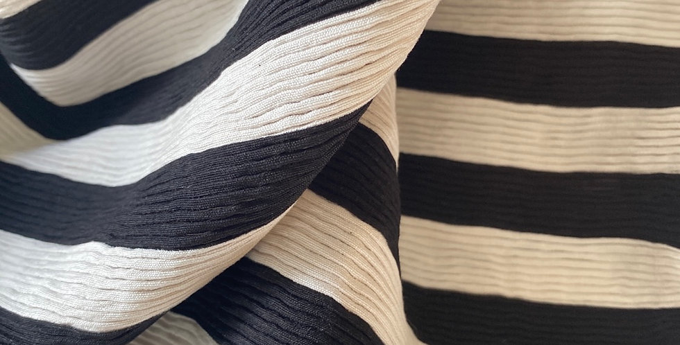 Black and white tiny pleat remnant