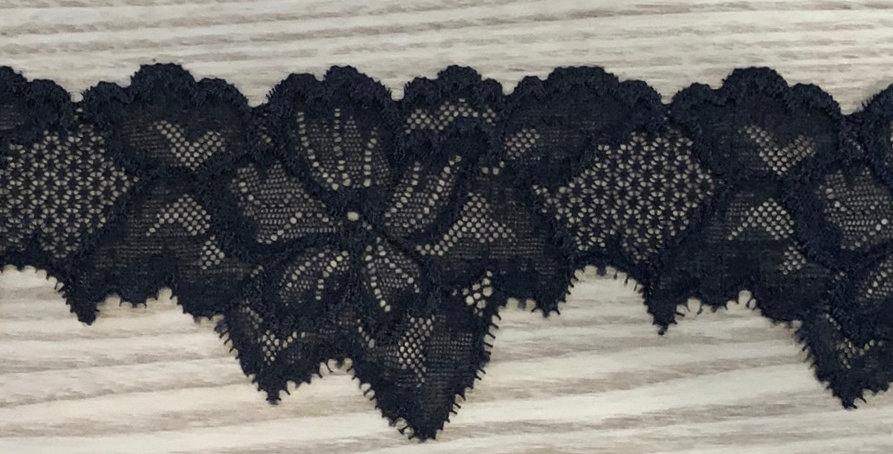 Elvira Black Stretch Lace...