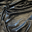Thumbnail: Black Textured Stripe Leather Look Double Knit
