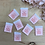Thumbnail: Set of 8 THE LINGERIE SOCIETY Embroidered Cloth Labels...