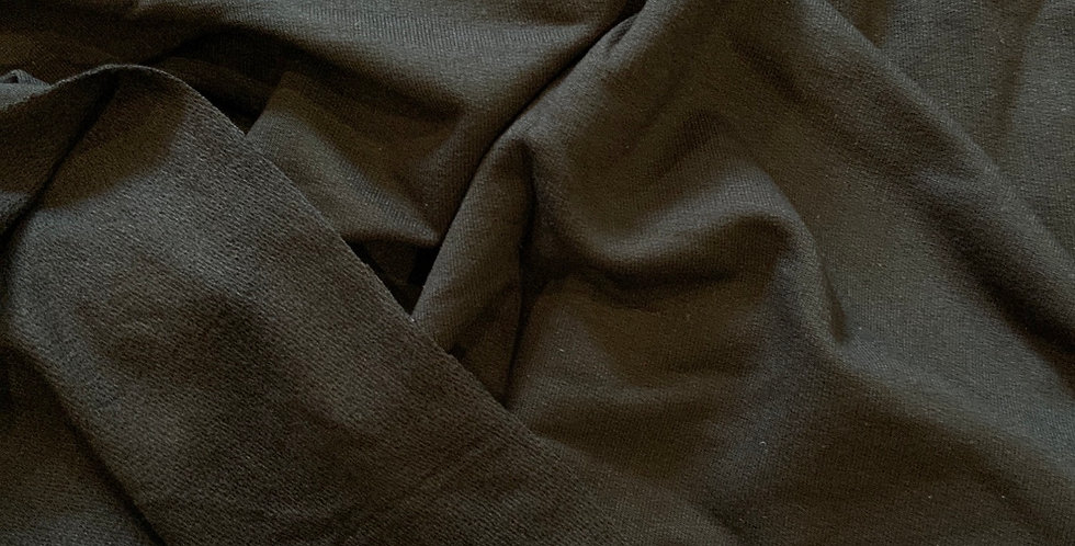 Black Unbrushed Two Way Stretch Jersey Remnant