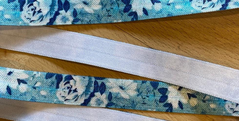Ocean floral foldover elastic