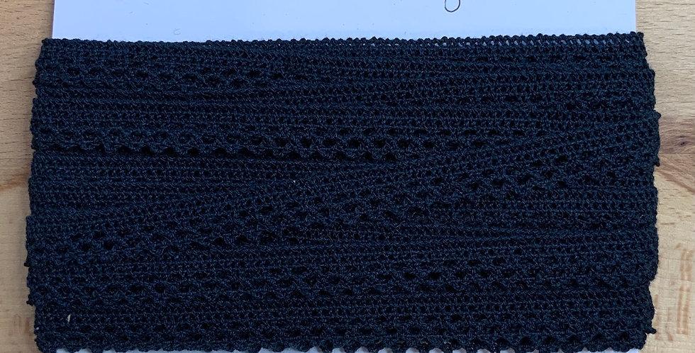 Blue Black Cotton Crochet Trim...