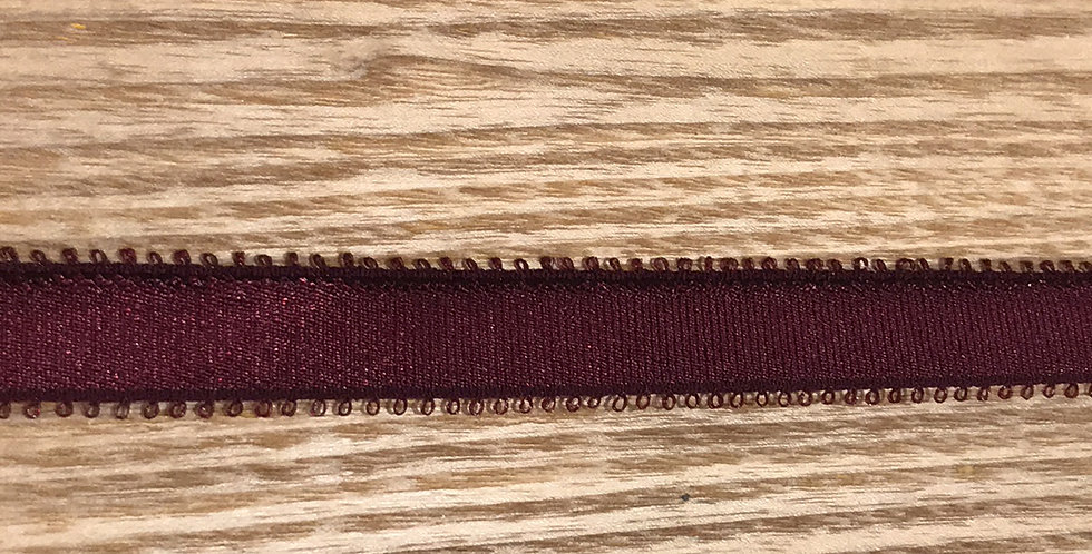 Burgundy picket edge strapping