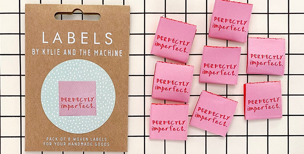 KATM perfectly imperfect cloth labels