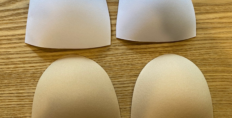 padded foam bra cups