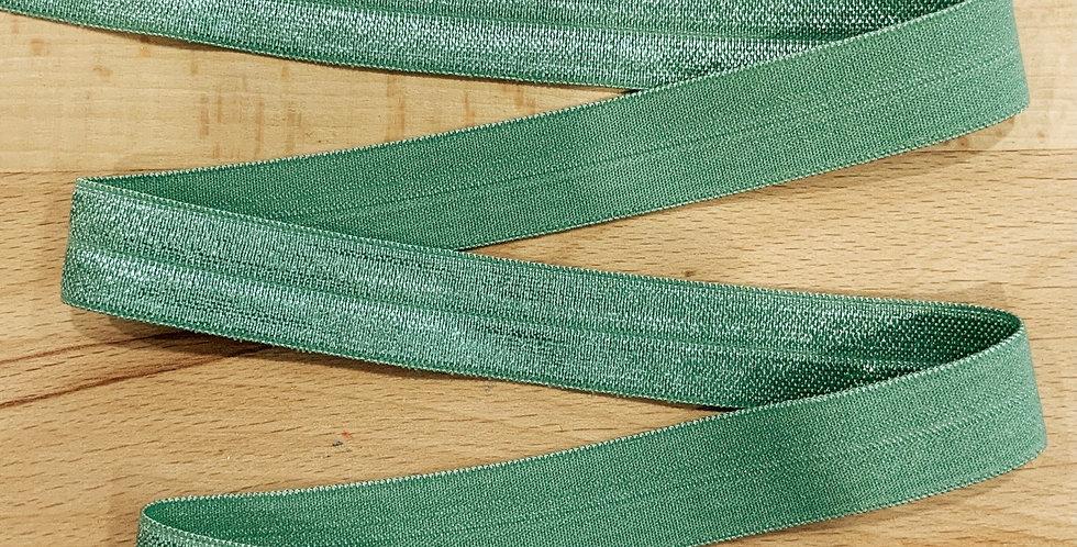 Fern Green Foldover Elastic