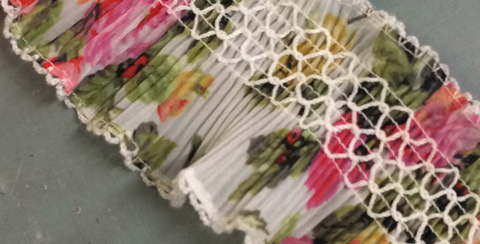 Georgina floral shirred pleated stretch trim