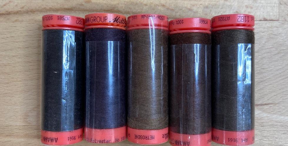 Metrosene Mixed Browns Thread Pack #6