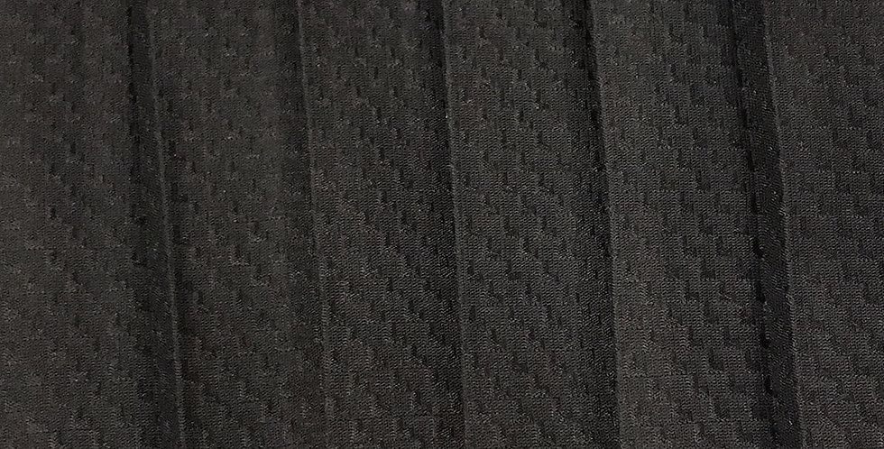 Black perma pleat jacquard