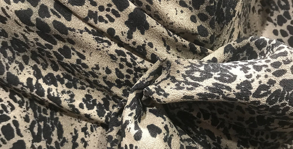 Animal Instincts Double Georgette Remnant