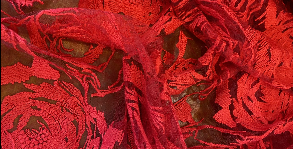 Scarlet rose lace