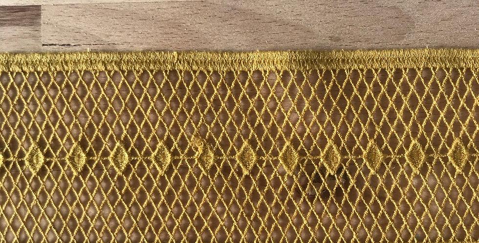 Lexi crochet lace mustard