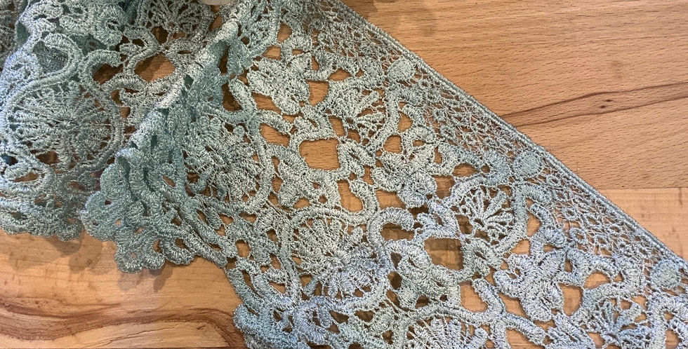 Mabel Seafoam Hand Dyed Guipure lace Trim