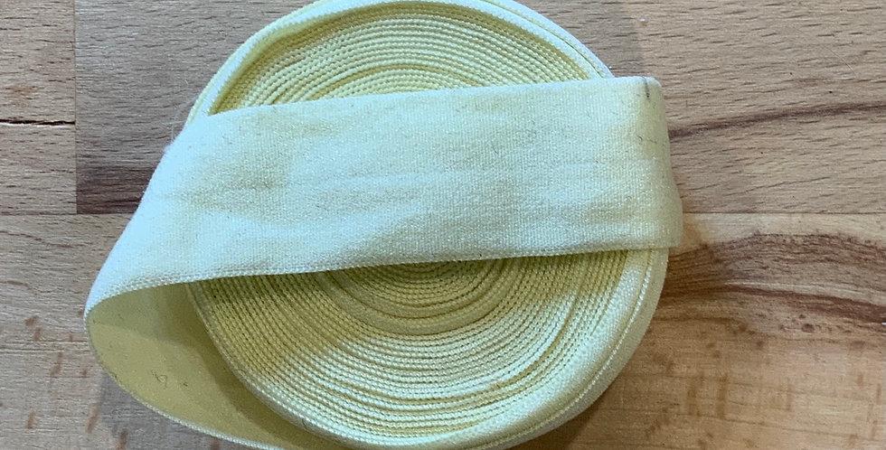 Cream Matte 4mtr roll Foldover Elastic