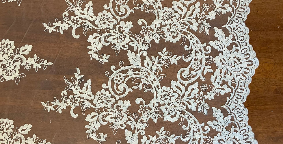 Isabel Light Ivory Corded Lace....