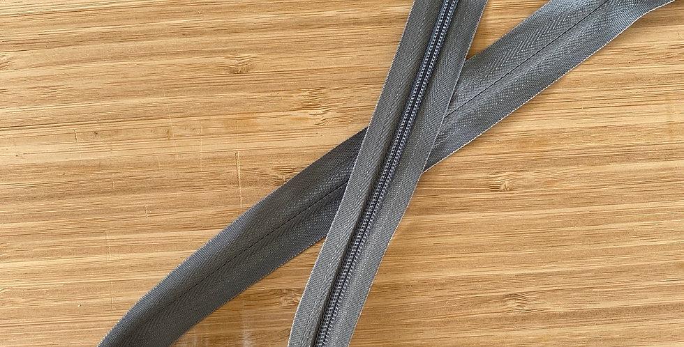 mid grey 55cm invisible zip