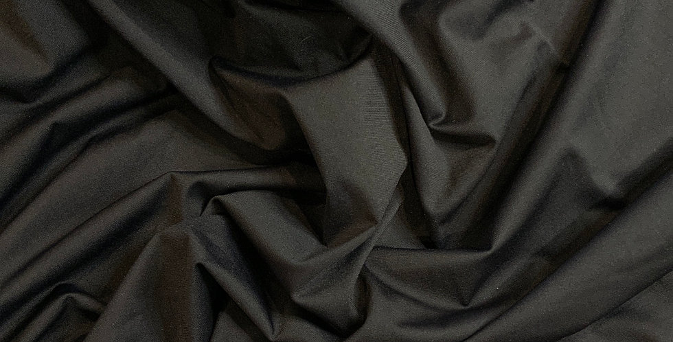 Black Lightweight Matte Spandex  Remnant