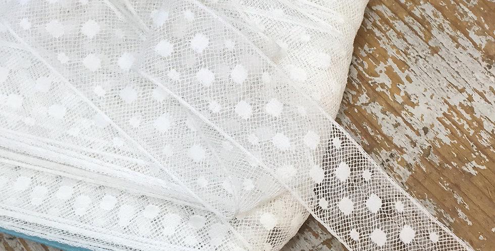 Dot vintage lace trim