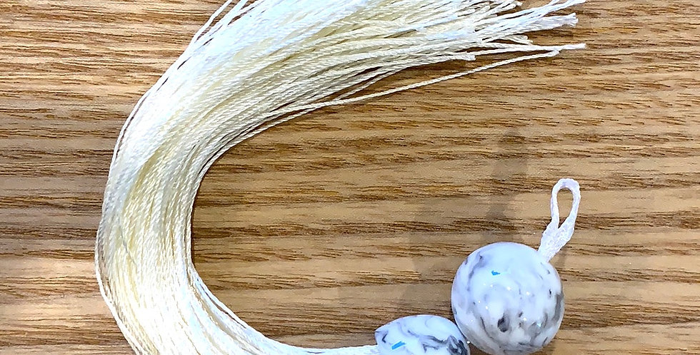 Cream Marble Tassel