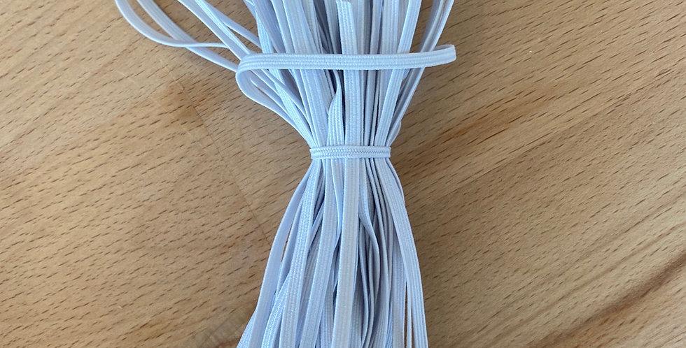 10 metre bundle 3mm white elastic