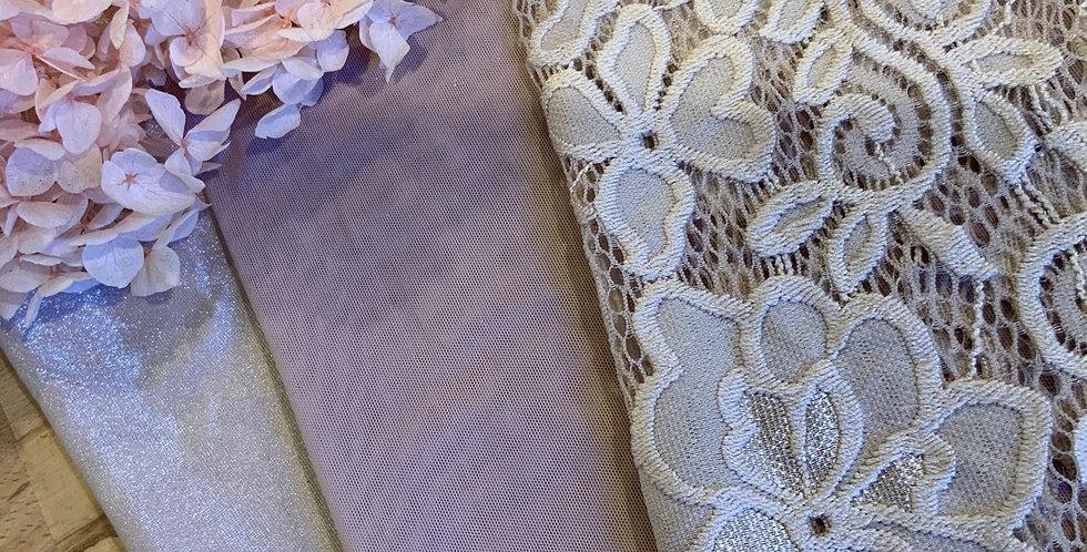 Mocha Mottled Hand Dyed 3 Pack Lingerie Fabrics..