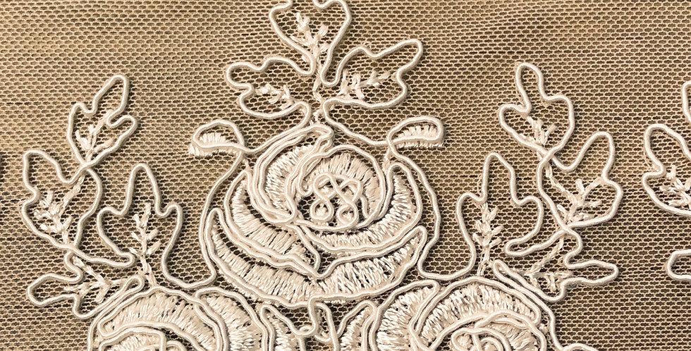 Alice embroidered mesh trim