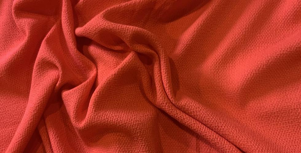 Julie Neon Red Viscose Crepe Remnant