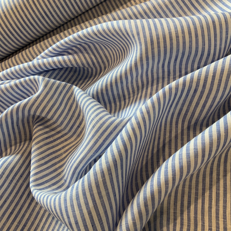 Corfu Chambray Stripe Linen....