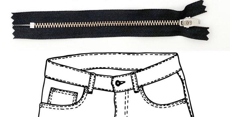 KATM jeans hardware refill kit black/black