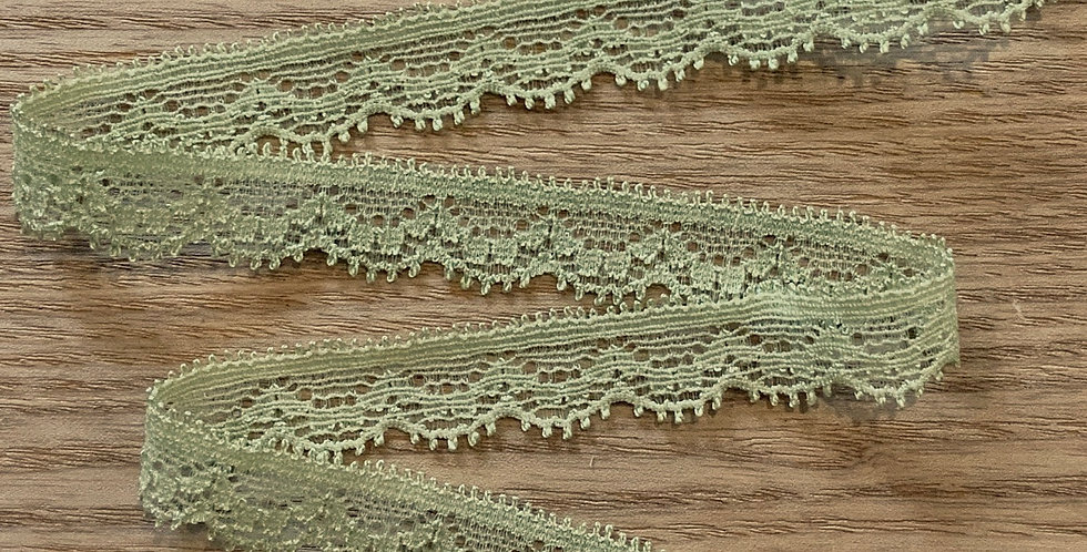 Muted Lime Hand Dyed Stretch Lace....